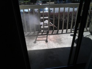 pressure washing balcony